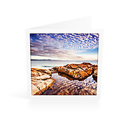 Photo Art Greeting Card | South West Rocks Collection | Morning Reflections | Printed on lightly textured matte art paper stock, blank inside. White envelope included, packaged in sealed poly bag. Dimensions: Card 123 x 123mm. Envelope 130 x 130mm.<br />