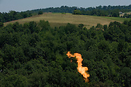 Well flaring in Greene County, PA