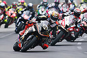 Peter HICKMAN, GBR, Aspire-Ho by Bathams Racing BMW S 1000 RR leads the field at the start. <br /> <br /> 65th Macau Grand Prix. 14-18.11.2018.<br /> Suncity Group Macau Motorcycle Grand Prix - 52nd Edition.<br /> Macau Copyright Free Image for editorial use only