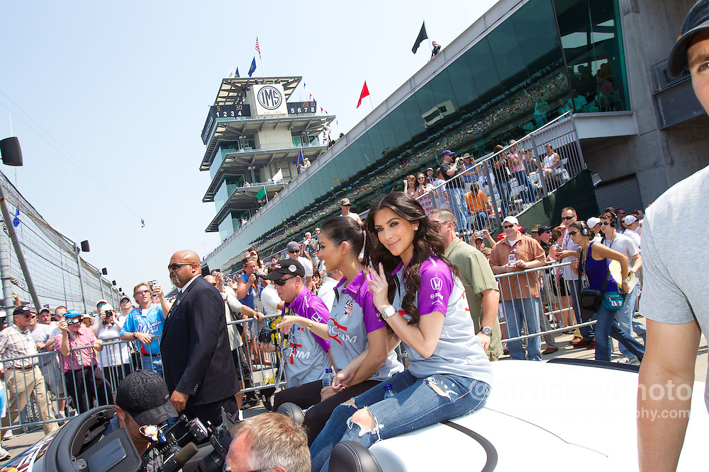Kim Kardashian seen at the Indianapolis Motor Speedway during Indy 500 weekend.<br />