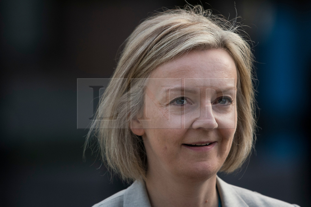 © Licensed to London News Pictures. 04/10/2017. Manchester, UK. Chief Secretary to the Treasury LIZZ TRUSS at Conservative Party Conference. The four day event is expected to focus heavily on Brexit, with the British prime minister hoping to dampen rumours of a leadership challenge. Photo credit: Ben Cawthra/LNP