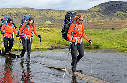 09-07-2014 ISL: Iceland Diabetes Challenge Dag 5, Emstrur<br /> Van Alftavatn naar Emstrur / Debbie de Poorter