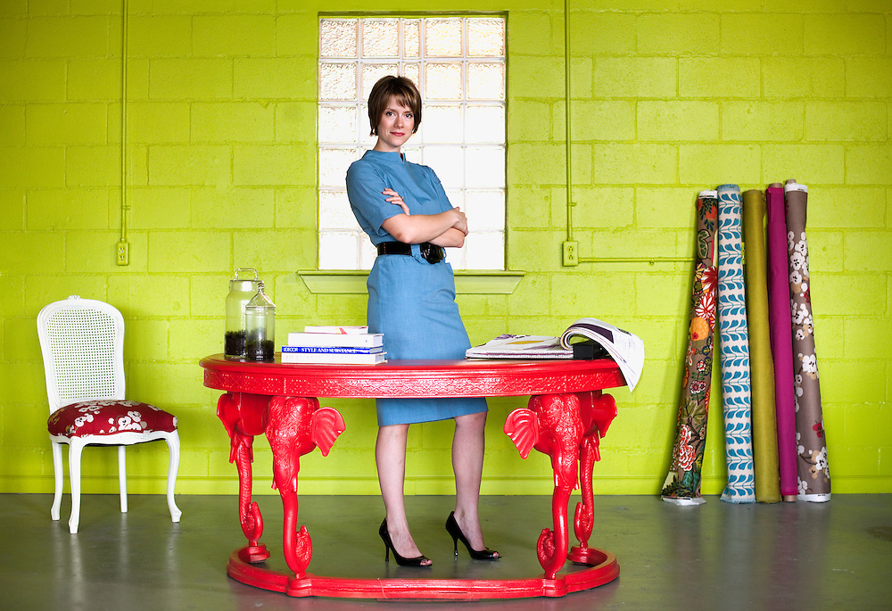 Amanda Brown, owner of Spruce Interiors, photographed in Austin, Texas.