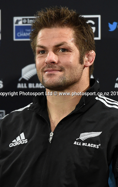 Richie McCaw at the post match press conference. New Zealand All Blacks versus South Africa Springboks. The Rugby Championship. Rugby Union Test Match. Wellington. New Zealand. Saturday 13 September 2014. Photo: Andrew Cornaga/www.Photosport.co.nz
