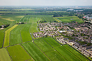 Nederland, Noord-Holland, Weesp, 25-05-2010. Aetsveld, nieuwbouwwijkje, stadsuitbreiding in de Aetsveldsche Polder.Urban expansion in polder..luchtfoto (toeslag), aerial photo (additional fee required).foto/photo Siebe Swart