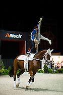 Jasmine Lindner, Lukas Wacha, (AUT), Bram, Klaus Haidacher - Pas de Deux Vaulting Round 2 - Alltech FEI World Equestrian Games&trade; 2014 - Normandy, France.<br /> &copy; Hippo Foto Team - Jon Stroud<br /> 05/09/2014
