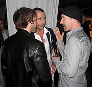 **EXCLUSIVE**.James Blunt, David Furnish & U2's The Edge.Bono concert After Party.Baoli Restaurant - 2007 Cannes Film Festival .Cannes, France .Saturday, May 19, 2007.Photo By Celebrityvibe; .To license this image please call (212) 410 5354 ; or.Email: celebrityvibe@gmail.com ;