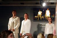 Idrett, 9. juni 2004, presentasjon av OL-kolleksjon foran OL i Athen 2004, Siren Sundby, seiling, og Fritz Aanes, bryting