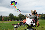 September 19, 2010 - Richard F. Troise flies his kite in Boston Common on a Saturday afternoon. He said he has been flying kites for 15 years and is at Boston Common almost everyday. Photo by Lathan Goumas, COM 2011.