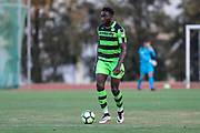 Forest Green Rovers Manny Monthe(6) on the ball during the Pre-Season Friendly match between SC Farense and Forest Green Rovers at Estadio Municipal de Albufeira, Albufeira, Portugal on 25 July 2017. Photo by Shane Healey.