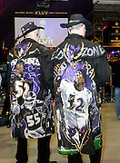 2/2/13 New Orleans LA.-NFL  Day before the Super Bowl XLV11  Baltimore Raven fans explore the NFL Experience in New Orleans. Photo©Suzi Altman