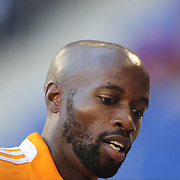 DaMarcus Beasley, Houston Dynamo, during warm up before the New York Red Bulls Vs Houston Dynamo, Major League Soccer regular season match at Red Bull Arena, Harrison, New Jersey. USA. 4th October 2014. Photo Tim Clayton