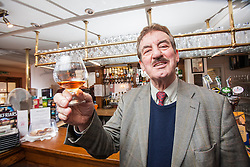 John Challis, best known for his role as Terrance Aubrey &quot;Boycie&quot; Boyce in the BBC television comedy series Only Fools and Horses, and its 2005 spin-off The Green Green Grass. Pic in The Feathers Hotel, Ludlow.<br /> Scotland Independent feature, Ludlow.<br /> &copy; Michael Schofield.