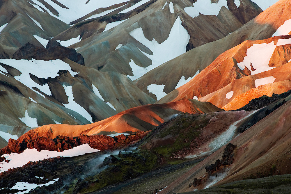 Rhiolite mountains at Landmannalaugar<br /> Rhyiolite volcanism<br /> Iceland