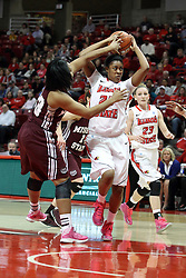 03 March 2013:  Janae Smith hustles against Christiana Shorter during an NCAA Missouri Valley Conference (MVC) women's basketball game between the Missouri State Bears and the Illinois Sate Redbirds at Redbird Arena in Normal IL