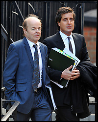 Christopher Jefferies (L), who was wrongly accused of Joanna Yeates's murder, arrives with his lawyer David Sherborne (R) to give evidence to The Leveson Inquiry at The Royal Courts of Justice, London. The inquiry is being lead by Lord Justice Leveson and is looking into the culture, practice and ethics of the press in the United Kingdom. The inquiry, which will take evidence from interested parties and may take a year or more to complete, comes in the wake of the phone hacking scandal that saw the closure of The News of The World newspaper, Friday November 25, 2011, Photo by Andrew Parsons/ i-Images