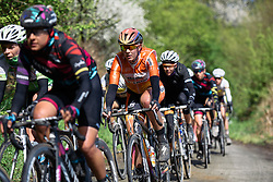 Demi de Jong (Boels Dolmans) at Dwars door de Westhoek 2016. A 127km road race starting and finishing in Boezinge, Belgium on 24th April 2016.