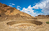 Ceremonial Pit at Chaco Culture National Historical Park, New Mexico