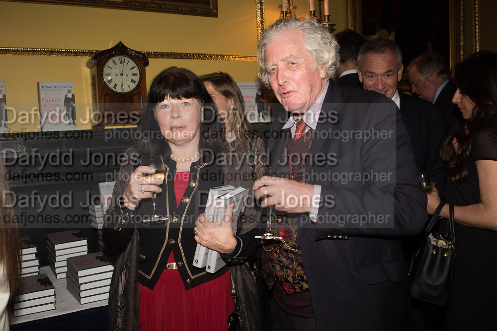 LADY SUDELEY; LORD SUDELEY, Launch hosted by Quartet books  of Madam, Where Are Your Mangoes? by Sir Desmond de Silva at The Carlton Club. London. 27 September 2017.