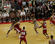MORNING JOURNAL/DAVID RICHARD.Mike Conley Jr. center, of Ohio State puts up a running jump shot to help the Buckeyes win their second straight Big Ten title Sunday, Feb. 25, 2007, in Columbus, Ohio. Ohio State beat Wisconsin 49-48.
