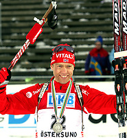 Skiskyting<br /> VM 2008<br /> Östersund Sverige<br /> 09.02.2008<br /> Sprint<br /> Foto: Gepa/Digitalsport<br /> NORWAY ONLY<br /> <br /> Halvard Hanevold (NOR)