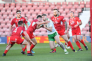 11th November 2018 , Racecourse Ground,  Wrexham, Wales ;  Rugby League World Cup Qualifier,Wales v Ireland ; Ethan Ryan of Ireland in action<br /> <br /> <br /> Credit:   Craig Thomas/Replay Images