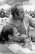 Formula 1: New Zealanders Bruce McLaren and Denny Hulme at Monaco Grand Prix, 1968.