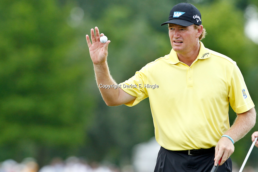 Apr 29, 2012; Avondale, LA, USA; Ernie Els on the ninth hole during the final round of the Zurich Classic of New Orleans at TPC Louisiana. Mandatory Credit: Derick E. Hingle-US PRESSWIRE