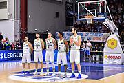 Team Banco di Sardegna Dinamo Sassari, Minuto di Silenzio Luca Spikkio Grifo Ruggiu<br /> Banco di Sardegna Dinamo Sassari - Polski Cukier Twarde Pierniki Torun<br /> FIBA BCL Basketball Champions League 2019-2020<br /> Sassari, 15/01/2020<br /> Foto L.Canu / Ciamillo-Castoria
