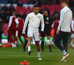 February 25, 2018 - London, England, United Kingdom - Manchester City's Gabriel Jesus during the pre-match warm-up .during Carabao Cup Final match between Arsenal against Manchester City at Wembley stadium, London  England on 25 Feb 2018. (Credit Image: © Kieran Galvin/NurPhoto via ZUMA Press)