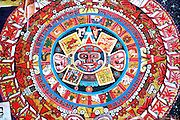 CHICAGO, NEIGHBORHOODS: Hispanic, Aztec Calendar Stone mural