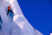 Ice climbing at Worthington Glacier, near Valdez, Alaska