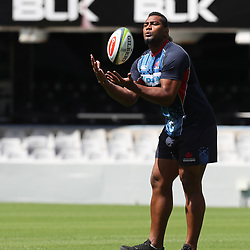 Taqele Naiyaravoro of the NSW Waratahs during the NSW Waratahs Cap Run at  Growthpoint Kings Park Durban , South Africa. March 9th 2017(Photo by Steve Haag)<br /> <br /> images for social media must have consent from Steve Haag