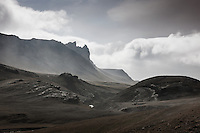 Ashfall in the Eyjafjöll area, South Iceland. The ash is coming from Volcano Eyjafjallajökull.