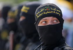 October 21, 2016 - Gaza, gaza strip, Palestine - A Palestinian Islamic Jihad militant stands guard on a roof during a rally marking the 29th anniversary of the movement foundation in Gaza City October 21, 2016. (Credit Image: © Majdi Fathi/NurPhoto via ZUMA Press)