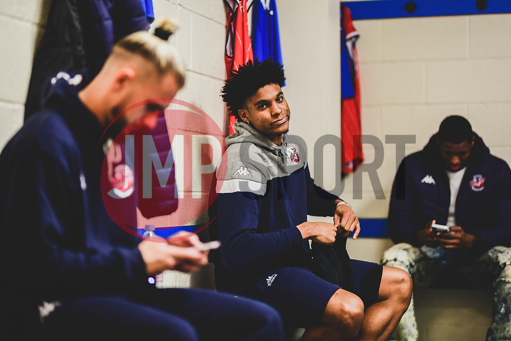 Justin Gray of Bristol Flyers prior to kick off- Photo mandatory by-line: Ryan Hiscott/JMP - 03/11/2018 - BASKETBALL - SGS Wise Arena - Bristol, England - Bristol Flyers v Newcastle Eagles - British Basketball League Championship
