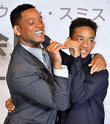59594014 .Will Smith and Jaden Smith at the After Earth Press conference in Hotel Ritz Carlton Tokyo, Japan, May 2, 2013 Photo by: i-Images.UK ONLY