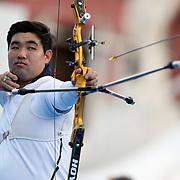Roma 03/09/2017 Stadio dei Marmi<br /> Hyundai Archery World Cup - Finale<br /> Finale Ricurvo Uomini<br /> il coreano terzo classificato Im Dong Hyun
