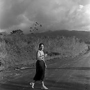 ANGELA JIMENEZ-CR roll 17 February 14, 1999<br />Lydia near the Arenal Volcano.