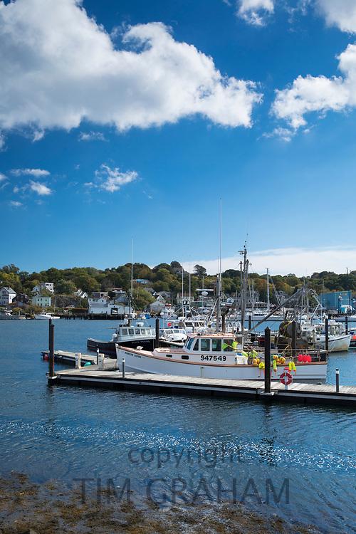 Fishermen's boats at Gloucester Harbor on the North Shore of the West Atlantic Ocean, Massachusetts, USA
