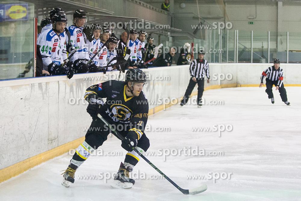 Janez Orehek of HK Playboy Slavija during ice hockey match between HK Playboy Slavija and HDD Telemach Olimpija in semi-final of Slovenian Cup, on November 10, 2015  in Ledena Dvorana Zalog, Ljubljana, Slovenia. Photo by Urban Urbanc / Sportida