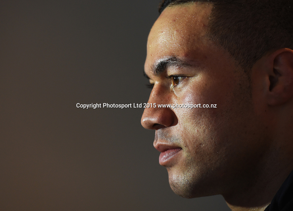 New Zealand heavyweight Boxer Joseph Parker. Press conference at the Pullman Hotel ahead of the upcoming Heavyweight Boxing fight between Joseph Parker and Yakup Saglam. Burger King Road to the Title. Monday 8 June 2015. Copyright photo: Andrew Cornaga / www.photosport.co.nz