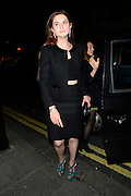 15.OCTOBER.2012. LONDON<br /> <br /> BONNY WRIGHT LEAVING THE LITTLE HOUSE RESTAURANT.<br /> <br /> BYLINE: EDBIMAGEARCHIVE.CO.UK<br /> <br /> *THIS IMAGE IS STRICTLY FOR UK NEWSPAPERS AND MAGAZINES ONLY*<br /> *FOR WORLD WIDE SALES AND WEB USE PLEASE CONTACT EDBIMAGEARCHIVE - 0208 954 5968*