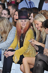 ALISON MOSSHART at the Sass & Bide fashion show as part of London Fashion Week Spring Summer 2013 held at the Lindley Hall, Royal Horticultural Halls, London SW1 on 14t September 2012.
