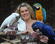 Leah Dorsett and her birds in Oxford, Miss. on Wednesday, March 24, 2010.