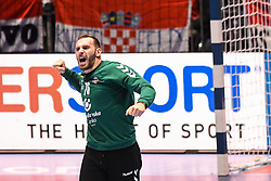 Vladimir Cupara of Serbia during the handball match between National teams of Serbia and Croatia in Group A of Men's EHF EURO 2020 on January 13, 2020 in Stadhalle Graz, Graz, Austria