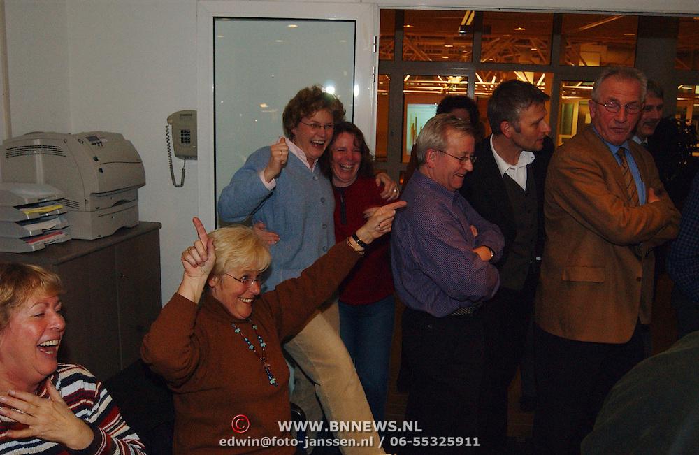 Stemmen Landelijke verkiezingen 2003, uitslagen, blijdschap PVDA, juichen