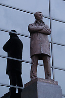 Football - 2012 / 2013 Premier League - Manchester United vs. Queens Park Rangers<br /> The new statue of Alex Ferguson, manager of Manchester United at Old Trafford