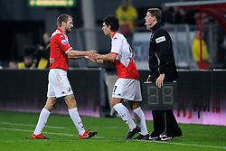 23-10-2009 VOETBAL: FC UTRECHT - RODA: UTRECHT<br /> Utrecht wint met 2-1 van Roda / Michael Silberbauer en Gianluca Nijholtr<br /> ©2009-WWW.FOTOHOOGENDOORN.NL