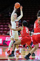NORMAL, IL - December 04: Kayel Newland defended by Nieja Crawford during a college women's basketball game between the ISU Redbirds  and the Austin Peay Governors on December 04 2018 at Redbird Arena in Normal, IL. (Photo by Alan Look)